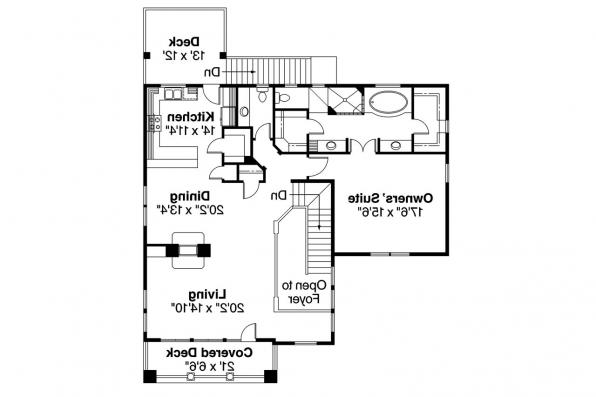European House Plan - Marianna 30-592 - Main Floor Plan