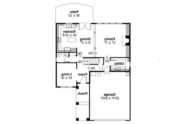 European House Plan - Mirabel 30-201 - 1st Floor Plan