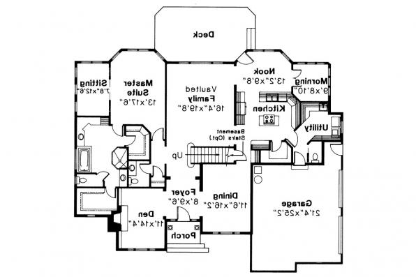 European House Plan - Montpellier 30-027 - 1st Floor Plan