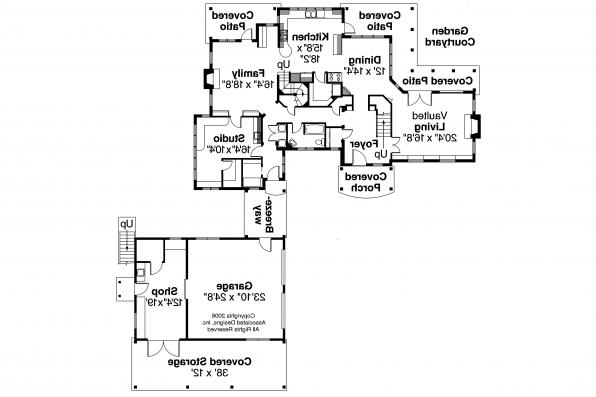 European House Plan - Petersfield 30-542 - Second Floor Plan
