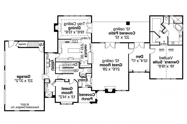 European House Plan - Pronghorn 30-917 - First Floor Plan