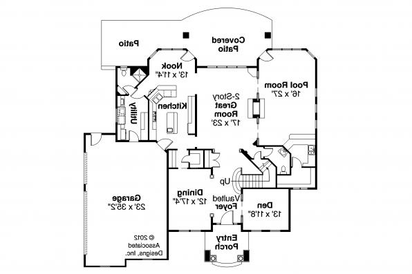 European House Plan - Reynolds 30-396 - First Floor Plan