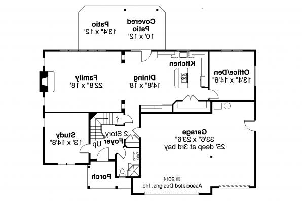 European House Plan - Sausalito 30-521 - 1st Floor Plan