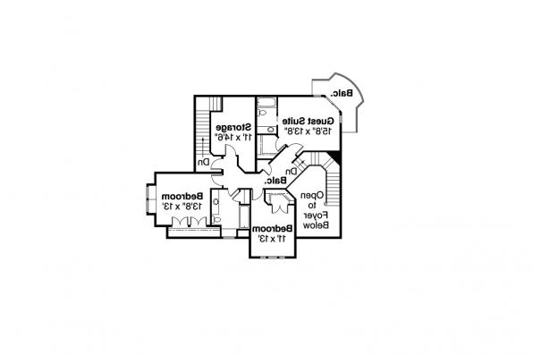 European House Plan - Stonehaven 30-465 - 2nd Floor Plan