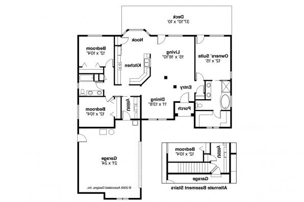 European House Plan - Whitmore 30-335 - Floor Plan