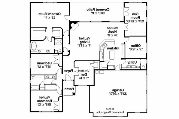 European House Plan - Winterberry 30-742 - Floor Plan