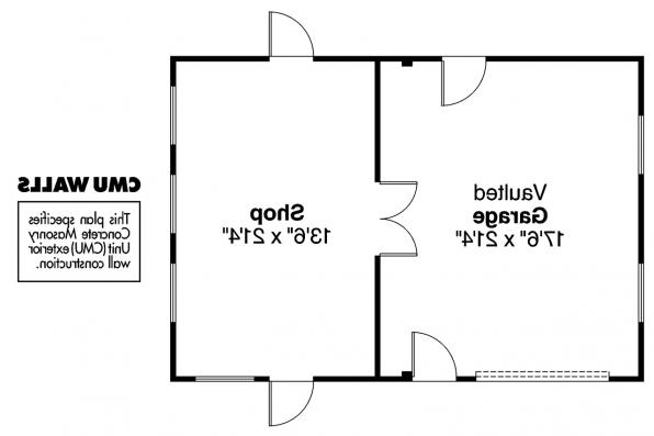 Garage Plan 20-001 - Floor Plan