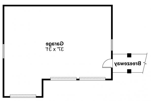Garage Plan 20-011 - Floor Plan