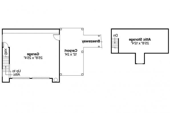 Garage Plan 20-015 - Floor Plan