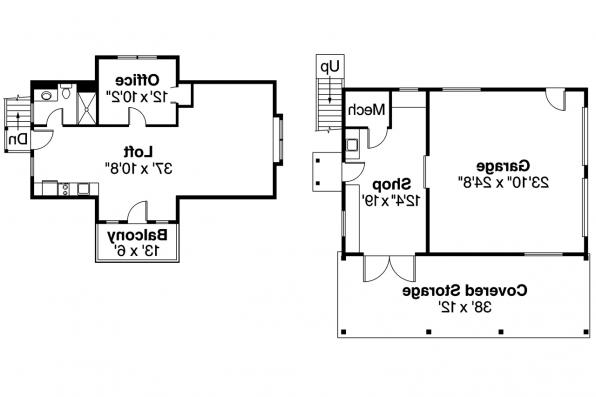 Garage Plan 20-020 - Floor Plan