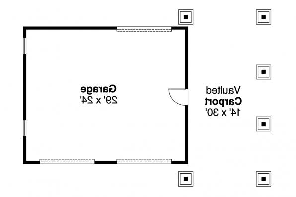 Garage Plan 20-021 - Floor Plan