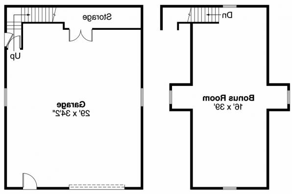 Garage Plan 20-026 - Floor Plan