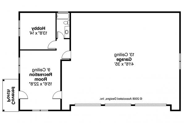 Garage Plan 20-042 - Floor Plan