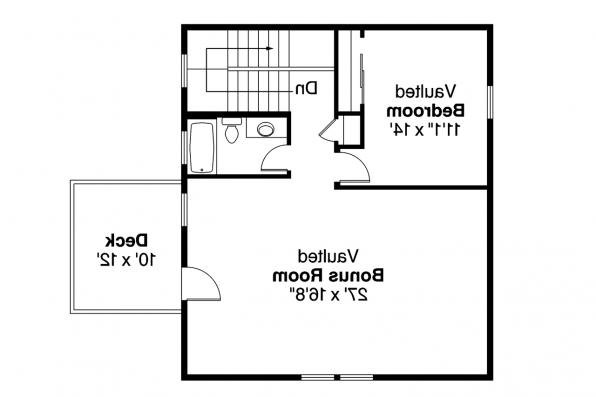 Garage Plan 20-063 - Second Floor Plan