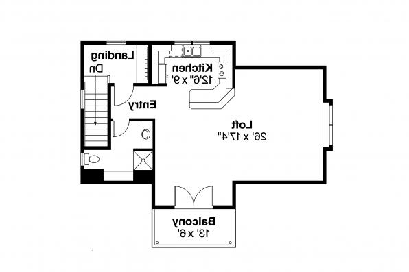 Garage Plan 20-067 - Second Floor Plan