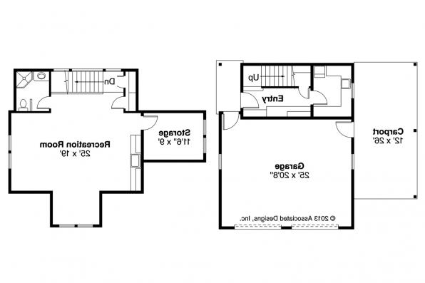 Garage Plan 20-111 - Floor Plan