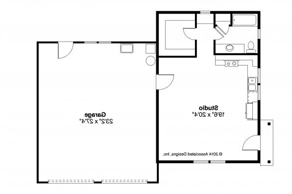 Garage Plan 20-116 - Floor Plan