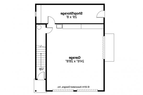 Garage Plan 20-141 - First Floor Plan