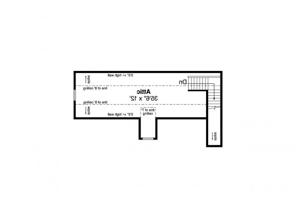 Garage Plan 20-166 - Second Floor Plan