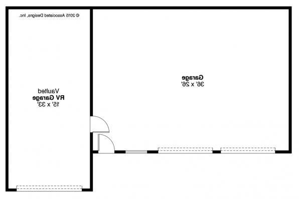 Garage Plan 20-169 - Floor Plan
