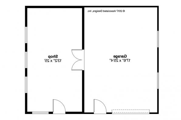 Garage Plan 20-190 - Floor Plan