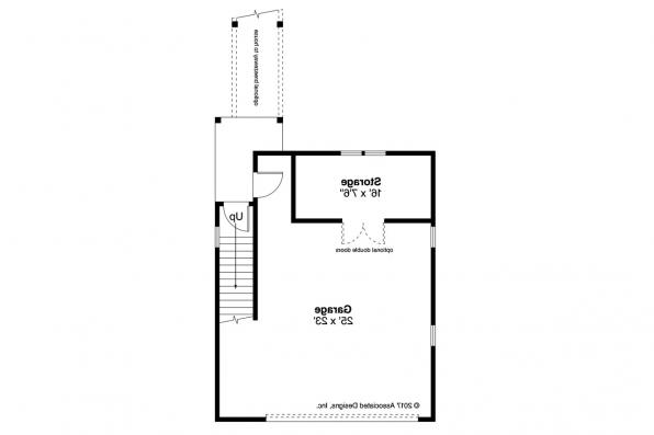 Garage Plan 20-221 - First Floor Plan