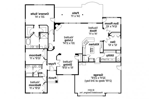 Georgian House Plan - Lupine 30-747 - Floor Plan