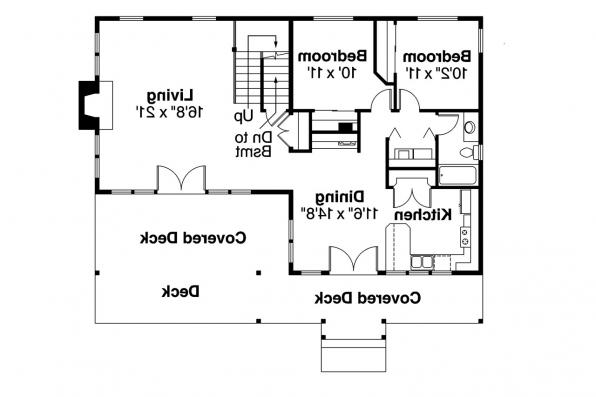 Lodge Style House Plan - Avondale 10-347 - 1st Floor Plan
