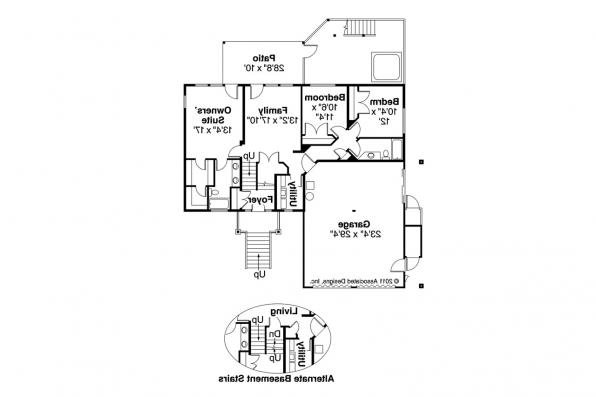 Lodge Style House Plan - Catkin 30-152 - Lower Floor Plan