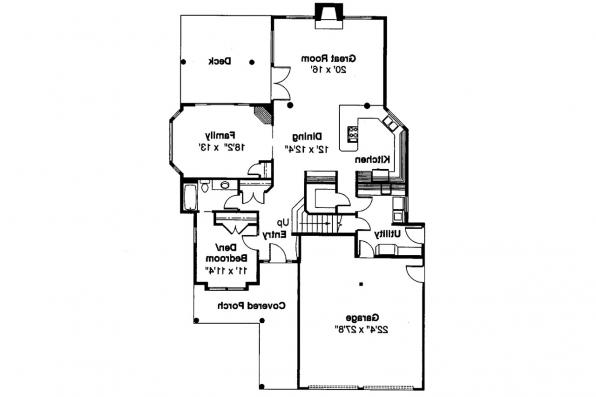 Lodge Style House Plan - Deschutes 30-150 - 1st Floor Plan