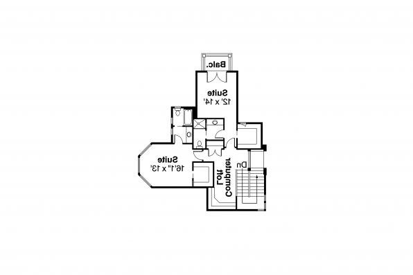 Lodge Style House Plan - Everheart 10-440 - 2nd Floor Plan