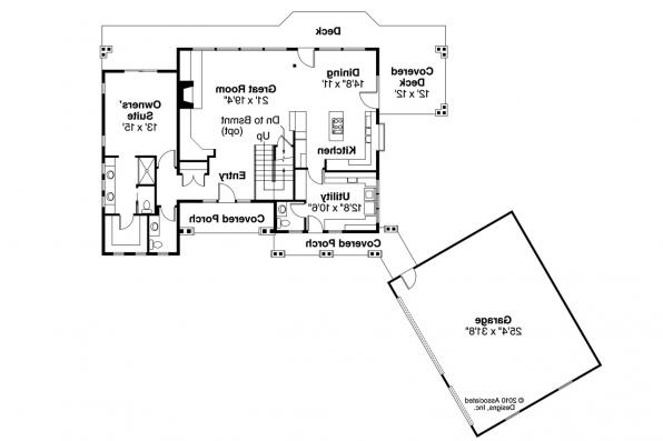 Lodge Style House Plan - Mariposa 10-351 - 1st Floor Plan