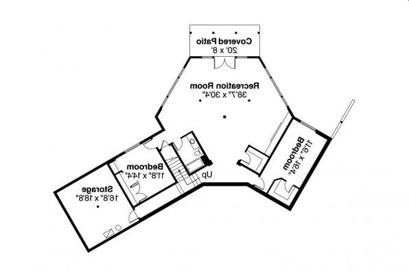 Lodge Style House Plan - Viewcrest 10-536 - Daylight Basement Floor Plan