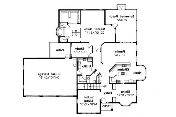 Mediterranean House Plan - Amherst 11-030 - 1st Floor Plan