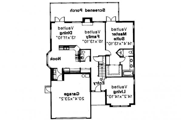 Mediterranean House Plan - Banyon 11-004 - 1st Floor Plan