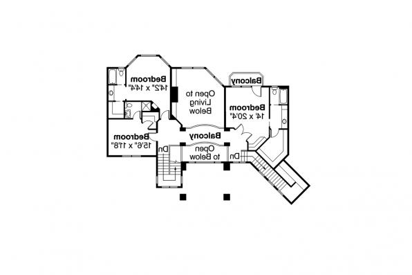 Mediterranean House Plan - Belle Vista 30-274 - 2nd Floor Plan