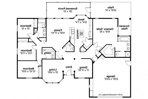 Mediterranean House Plan - Bryant 11-024 - Floor Plan