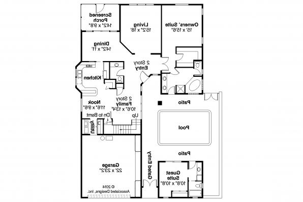 Mediterranean House Plan - Coronado 11-029 - First Floor Plan