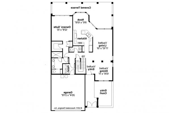 Mediterranean House Plan - Cortez 11-011 - 1st Floor Plan