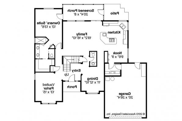 Mediterranean House Plan - Del Mar 11-057 - 1st Floor Plan