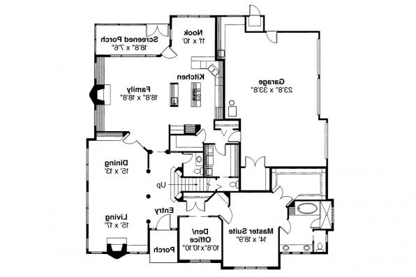 Mediterranean House Plan - Deveroux 10-354 - 1st Floor Plan