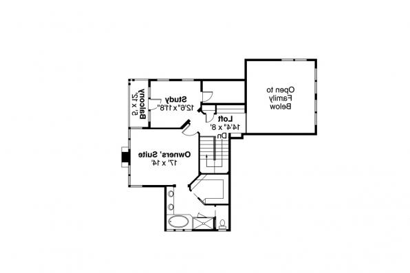 Mediterranean House Plan - Hazleton 30-304 - 2nd Floor Plan