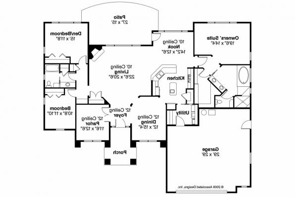 Mediterranean House Plan - Mendocino 30-681 - Floor Plan