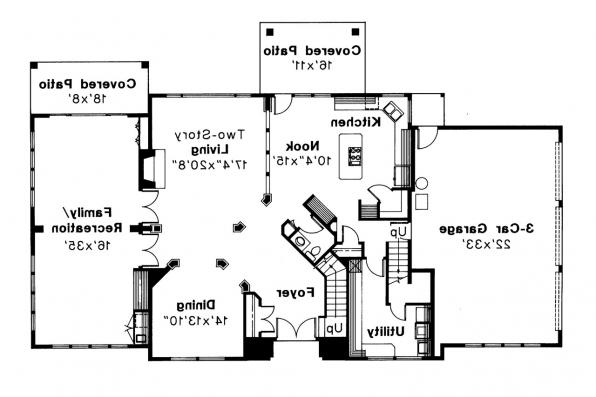 Mediterranean House Plan - Moderna 30-069 - 1st Floor Plan
