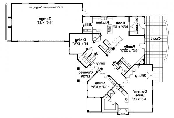Mediterranean House Plan - Pasadena 11-140 - First Floor Plan