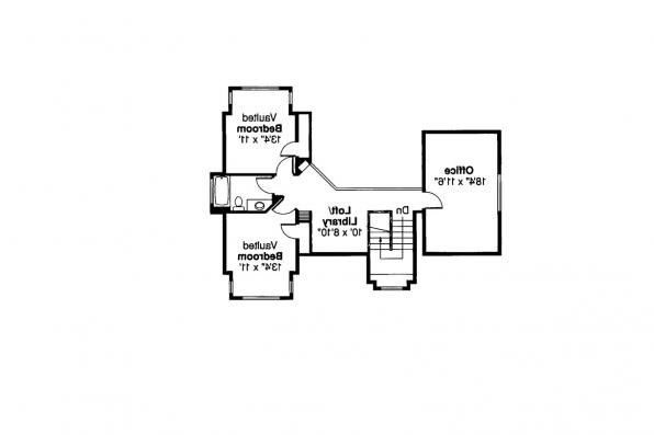 Mediterranean House Plan - Rosebery 30-162 - 2nd Floor Plan