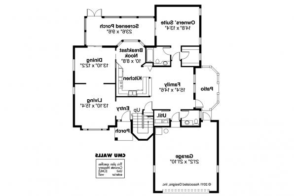 Mediterranean House Plan - Sequoia 11-013 - 1st Floor Plan