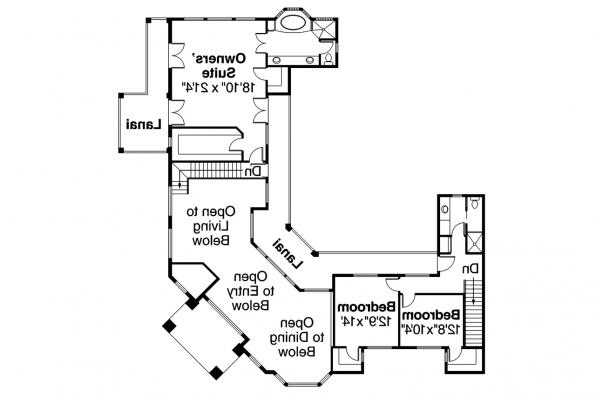 Mediterranean House Plan - Veracruz 11-118 - 2nd Floor Plan
