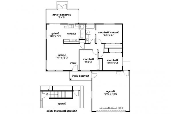Mediterranean House Plan - Topaz 11-087 - Floor Plan