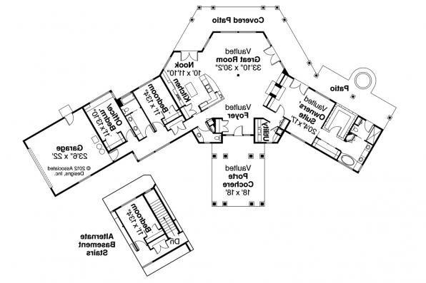 Prairie Style House Plan - Aberdeen 10-428 - Floor Plan